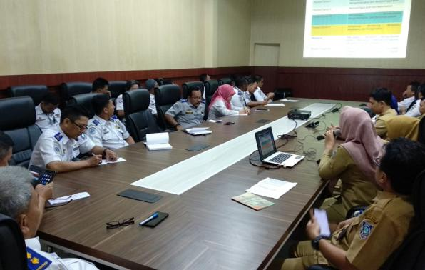 Suasana Sosialisasi SKP dan Bangkom di Dinas Perhubungan Provinsi Kepulauan Bangka Belitung, Selasa 25/02/2020